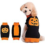 Halloween Pumpkin Dog Sweater