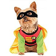 DC Comics Robin Teen Titans Dog Halloween Costume