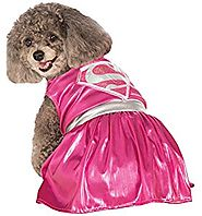 UHC Pink Supergirl Dc Comics Superhero Dress Puppy Halloween Pet Dog Costume