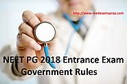 NEET PG 2018 Entrance Exam Rules of Government