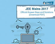JEE Mains 2017 Official Answer Keys and Solutions [Download PDF]