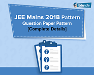 JEE Mains 2018 Pattern | Question Paper Pattern [Complete Details]