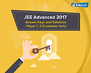 JEE Advanced 2017 Answer Key & Solutions – Paper 1, 2 [Complete Sets]