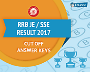 RRB JE / SSE Result 2017 | Cut off | Answer Keys