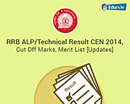 RRB ALP/Technical Result CEN 2014, Cut Off Marks, Merit List [Updates]