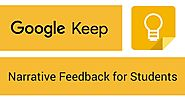 Google Keep - Narrative Feedback for Students