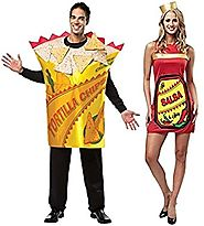 Adult Hot & Spicy Salsa and Tortilla Chips Couple Costumes