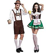 Party Dress Oktoberfest Bavarian Bar Maid Cosplay Costumes for Couples
