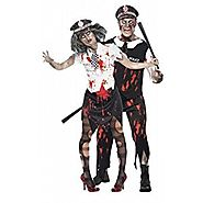 Mens & Ladies Couples Fancy Dress Dead Zombie Police WPC Policeman Policewoman Law Enforcement Emergancy Servives Hal...