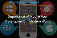 Importance of Mobile Application Development in Modern World