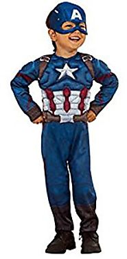 Captain America Muscle Chest Boys Toddler Halloween Costume 2T