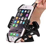 Bike & Motorcycle Cell Phone Mount - Patekfly Bike Mount For iPhone 7 (5, 6s 6Plus, 7Plus), Samsung Galaxy or any Sma...