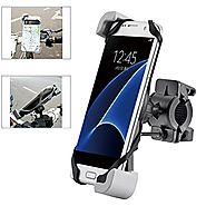 [2017 Secure Clamp] Ogaming Bike Cell Phone Mount Bicycle Motorcycle Handlebar Holder, Universal for iPhone 7 6 Plus ...