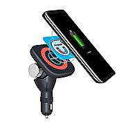 MOZEEDA Car Charger Magnetic Wireless Charging Kit Qi Standard 180°C Adjustable Wireless Charging Mount Holder Cradle...