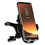Car Wireless Charger,iPosible Fast Car Charging Mount Air Vent Phone Holder for Samsung Galaxy S8 S8 Plus S7 Edge S7 ...