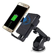 Wireless Charger,HTOCINQ Qi Wireless Charging 2-in-1 Car Mount for Samsung Note 5,Galaxy S7/S7 Edge/Plus, Galaxy S6/S...