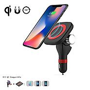 Wireless Charger Car Mount,Gemwon Magnetic Wireless Charging With 180°Adjustable Holder Dock for Qi Android Phone,Sam...
