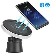 TankShip Magnetic Wireless Car Charger W5,Wireless Charging for Samsung S8 S8+ S8 Plus S7 S7 Edge S6 Edge Plus Note 5...
