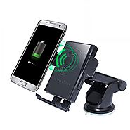 Wireless Charger, Rodzon Car Holder and Qi Wireless 2-in-1 Cellphone Mount, Charging Pad for Qi Enable Devices, iPhon...