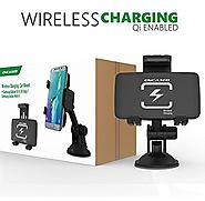 Easy-Dock Charging Wireless Car Mount Charger for Qi Enabled Devices - Retail Packaging (By Encased)