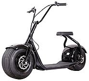 SEEV-800 Electric Lifestyle Fat Tire Scooter 800w Hub Motor E-Bike Bicycle (Black)