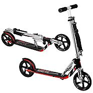 Hudora RX-205 LUX Big Wheel Fold Kick Scooter - 205mm Wheel, 14-Inch x 4.5-Inch Deck, ,Adjustable Bar,Reinforced Deck