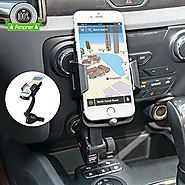 [Updated Version] 3-in-1 Multifunctional Car Mount + Car Charger + Cigarette Lighter Power Adapter, Amoner Universal ...