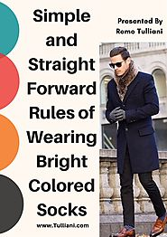 Simple and Straight Forward Rules of Wearing Bright Colored Socks