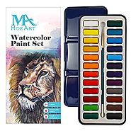Watercolor Paint Set - 24 vibrant colors - Lightweight and portable - Perfect for budding hobbyists and artists - Pai...