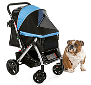 PET ROVER™ Premium Stroller for Small, Medium & Large Pets - Blue – HPZ™ PET ROVER™