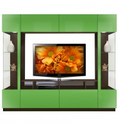 Brent Entertainment Center - Two-Sided Curio Displays