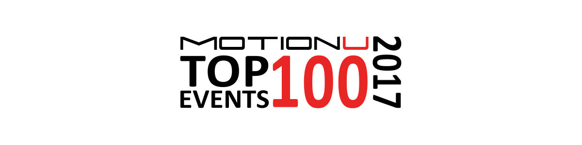 Headline for MotionU's Top 100 Car, Motorcycle & Wheeled Events U.S. 2017