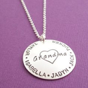 Pinterest: Grandmother Necklace with Names