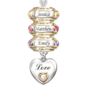 Grandma Necklace with Birthstones and Names