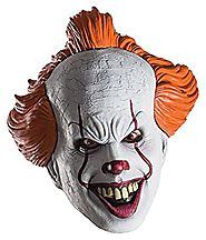 Pennywise from IT Movie 2017 Adult Mask for Halloween One Size Fits Most