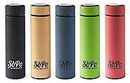 Premium Tea Infuser Thermos Bottle By SoPo Stainless (Black)
