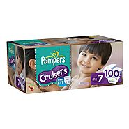 Pampers Cruisers Diapers, Economy Pack Plus, Size 7, 100 Count