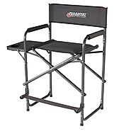 Tailgaterz heavy duty tall folding camping directors chair review - Best Heavy Duty Stuff