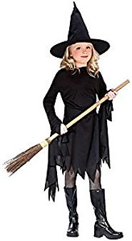 Classic Witchy Witch Black Girl Halloween Costume Large (12-14)