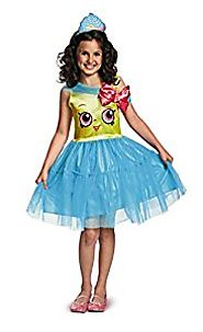 Shopkins Queen Cupcake Classic Costume, One Color, Small/4-6