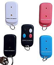 Where's the Remote? Key Finder Wireless Transmitter Rf remote Locator, Wallet, purse, Cell, Pet, Extra set of batteri...