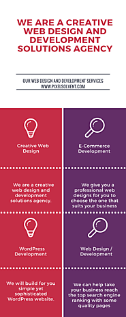 We are a creative web design and development solutions agency