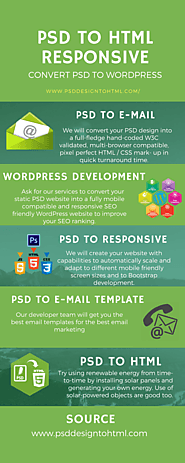 We can convert your PSD to the next level