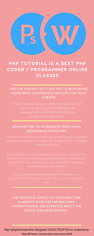 Tips for finding top class PSD to responsive WordPress conversion services for your website