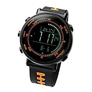 [Lad Weather] Swiss Sensor Watches Digital Compass Altimeter Weather Forecast Barometer Thermometer Alarm Calendar Ch...