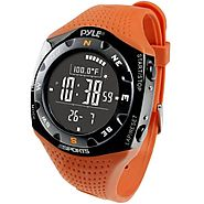 Pyle Sports PSKIW25O Ski Master V Professional Ski Watch w/ Max. 20 Ski Logbook, Weather Forecast, Altimeter, Baromet...