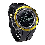 Pyle PSWWM82YL Digital Multifunction Sports Watch with Altimeter/Barometer/Chronograph/Compass and Weather Forecast (...