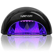 Ivation Professional LED Manicure Curing/Setting Lamp w/One Touch Presets – Polishes Look Glossier Nicer and Last Lon...