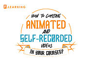 [INFOGRAPHIC] How to combine animated with self-recorded videos in your courses? - F.learning Studio