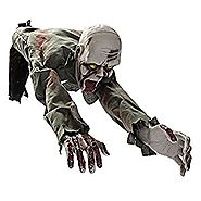 MareLight Electronic Crawling Light Sensored Halloween Horror Zombie Skeleton Bloody Haunted Animated Prop Decoration...